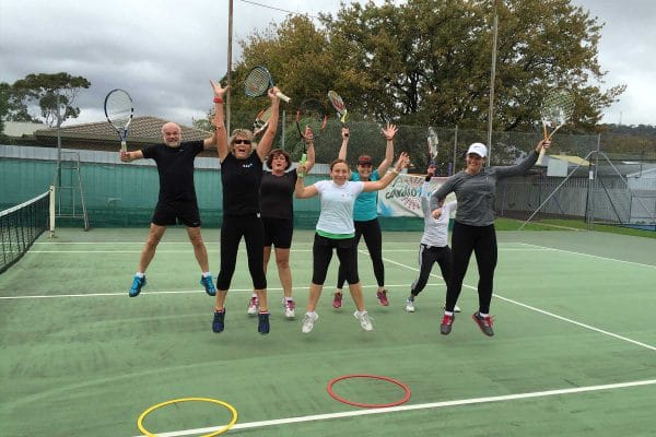 Just one of our many Cardio Tennis classes | Adelaide Tennis Lessons