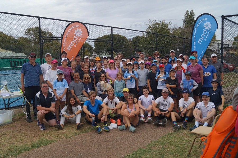 Our Move for MND participants at the Denman Tennis Club