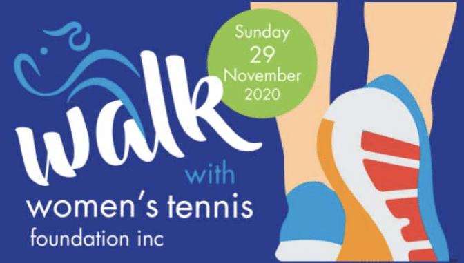 Walk with Women's Tennis logo. Sunday 29th of November 2020
